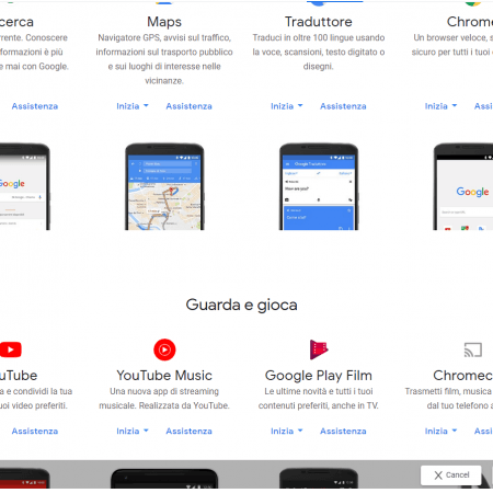 Tutti i prodotti Google